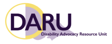 Disability Advocacy Resources Unit (DARU) logo