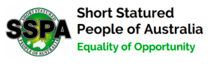 The Short Statured People of Australia (SSPA) logo