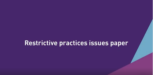 Restrictive practices issues paper