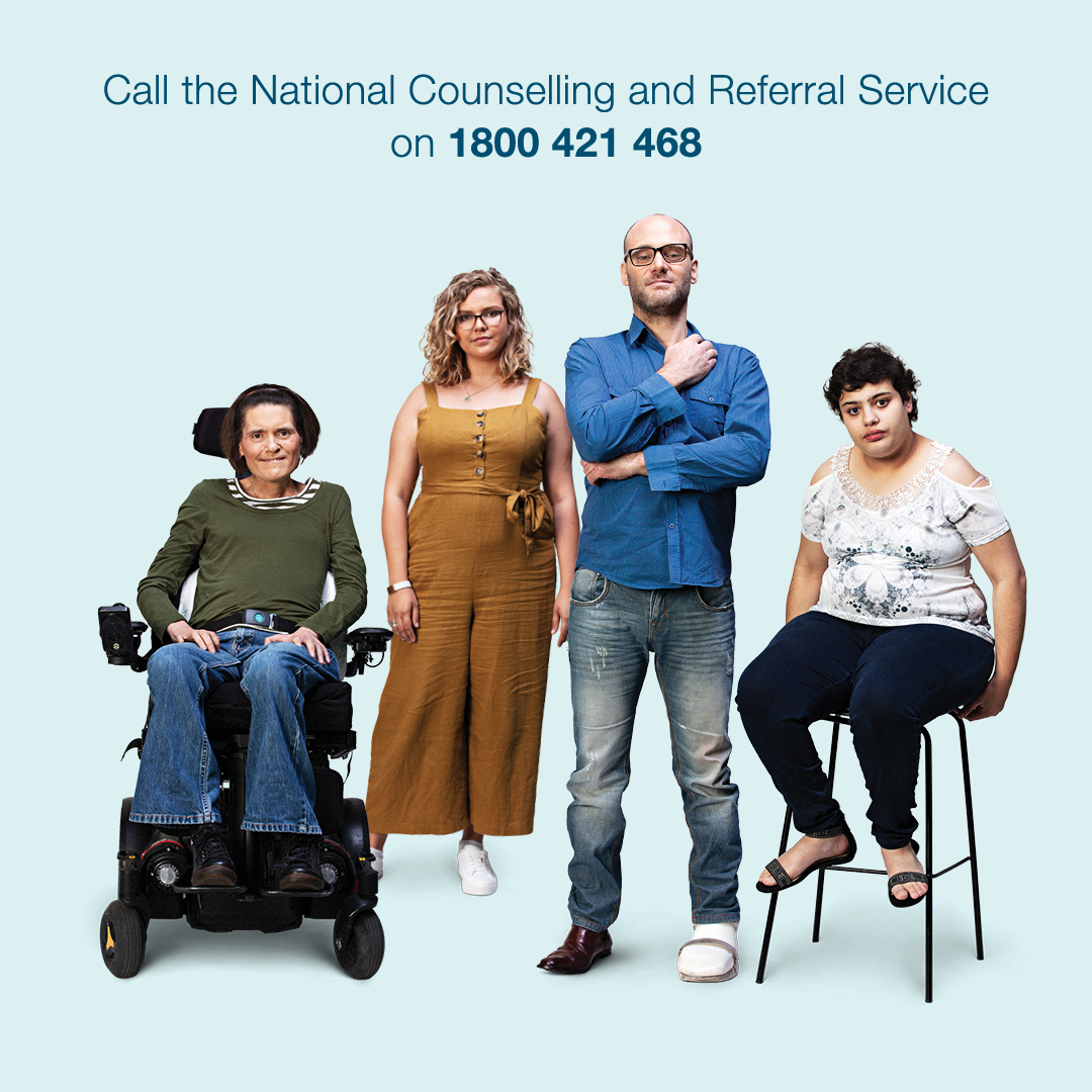 Call the National Counselling and Referral Service on 1800 421 468