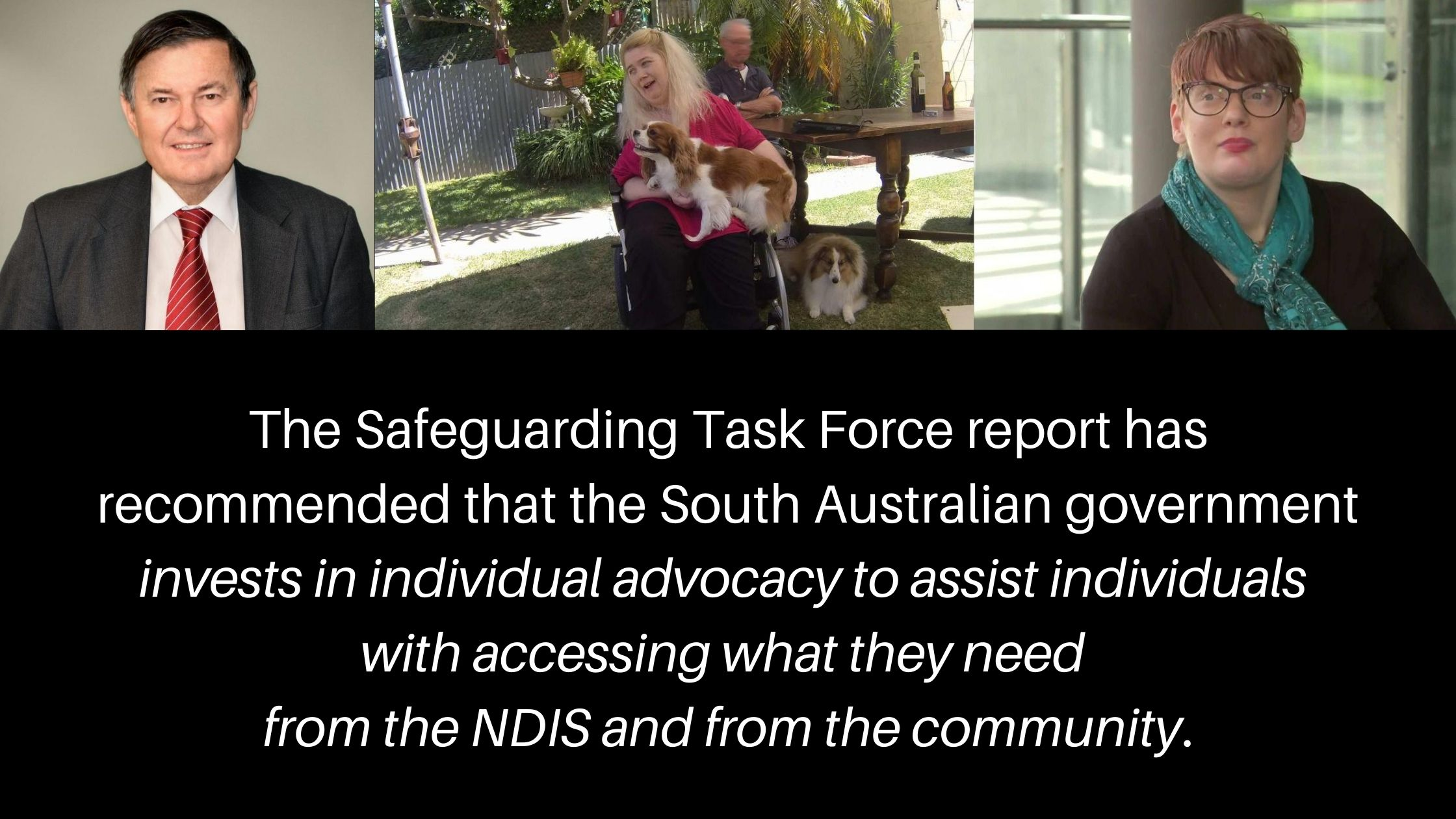 Pictures of Ann Marie Smith and Co-Chairs of Safeguarding Task Force, David Caudrey and Kelly Vincent