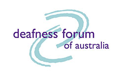 Deafness Forum of Australia logo
